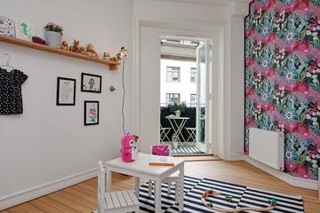 102平北欧温馨公寓欣赏儿童房设计