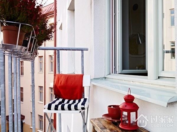 白色北欧一居室案例欣赏摆件
