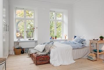 36平白色宜家住宅欣赏卧室设计