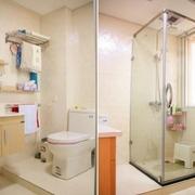 87平简约三居婚房欣赏卫生间