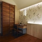 110平日式风格住宅欣赏卧室局部