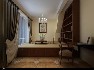 美式风格效果图案例欣赏茶室