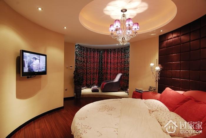 卧室美式飘窗效果图