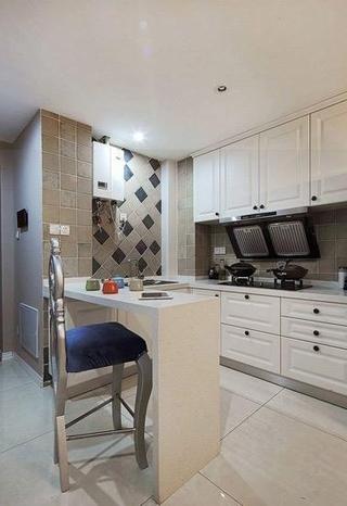 77平简约精美两居室欣赏厨房吧台
