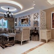 79平简欧风格案例欣赏客厅设计