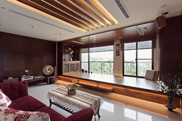 中式禅风两室一厅欣赏客厅效果