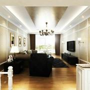 美式风格客厅吊顶装修效果图 清新简约