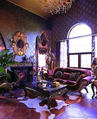 重口味混搭风格欣赏客厅陈设
