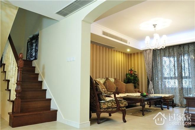 155平简欧复式住宅欣赏楼梯间