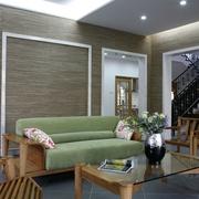 中式装修风格客厅沙发