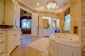 美式风格别墅套图浴室梳妆台