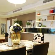 温馨三居室 简约餐厅灯饰效果图