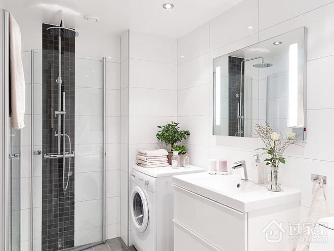 纯白小清新两居室欣赏卫生间