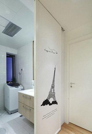 白色简约案例欣赏洗手间
