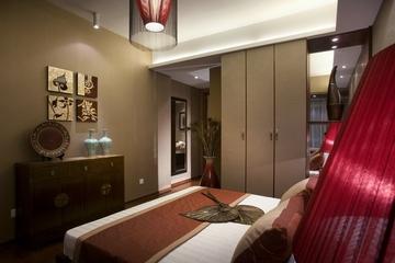 雅致中式三居室案例欣赏卧室电视柜