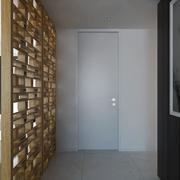 白色现代风格设计案例欣赏过道隔断