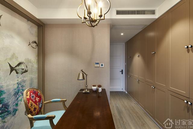 109㎡现代美式,独特的布局与后现代硬装搭配精致新房
