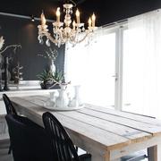 现代黑白灰别墅套图餐桌设计