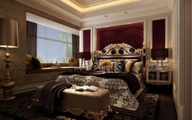 120平欧式风格三居欣赏卧室