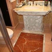豪华欧式风格洗手间地板