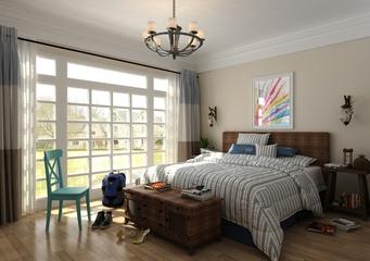 地中海住宅欣赏卧室设计