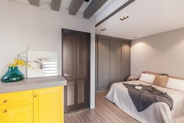 78平现代三居室欣赏卧室室内门