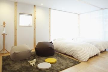 86平日式风格复式楼欣赏卧室设计