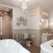 86平简欧三居案例欣赏卫生间设计