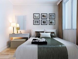 107平现代三室住宅欣赏卧室灯饰