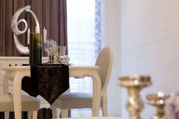 62平简约两居室欣赏餐厅窗帘