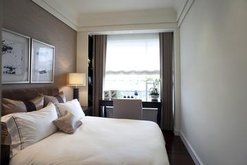 新古典三居室样板房案例欣赏卧室窗帘