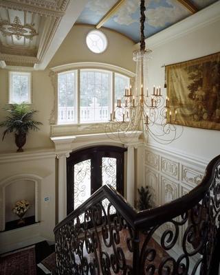 法式别墅效果图楼梯