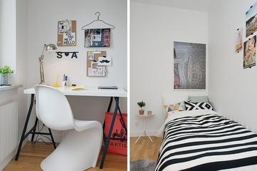 55平白色宜家公寓欣赏书房