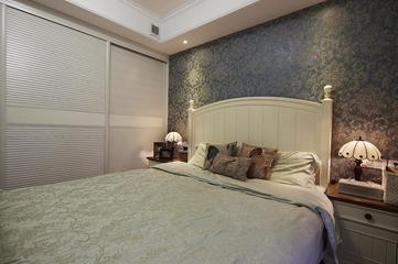86平地中海温馨复式欣赏卧室摆件