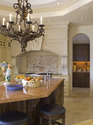 豪华法式风格装饰套图厨房吧台