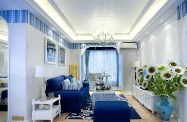 白色浪漫地中海住宅欣赏客厅吊顶设计