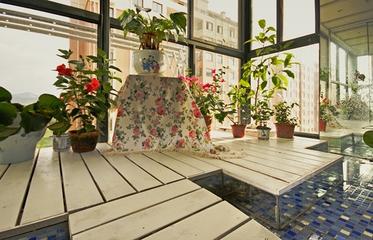 98平现代装修案例欣赏阳台