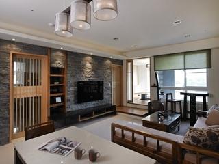 110平日式风格住宅欣赏客厅设计图