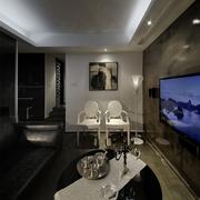 新古典套图赏析客厅背景墙挂画