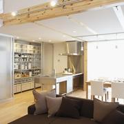 86平日式风格复式楼欣赏客厅效果
