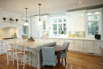 白色美式风四居室欣赏厨房吧台
