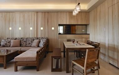 110平日式风格住宅欣赏客厅效果