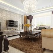 奢华新古典四居室欣赏客厅效果