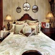 田园风格效果卧室床品