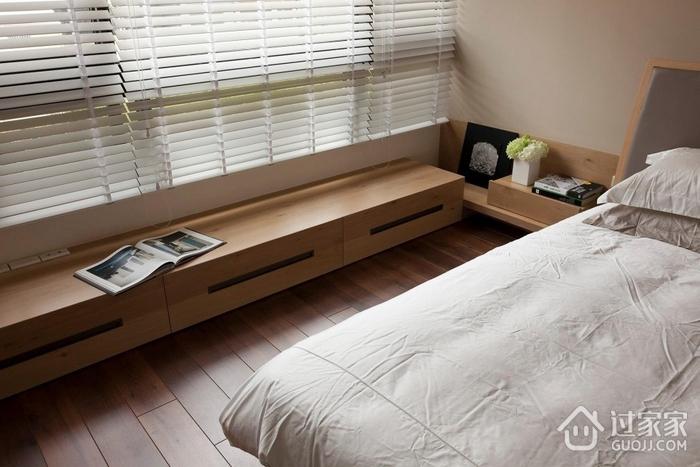 现代卧室书架装修效果图 暖暖原木色