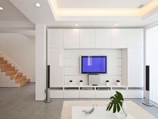 白色简约复式楼住宅欣赏