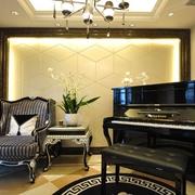 奢华新古典风钢琴房