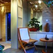 中式风阳台设计效果图