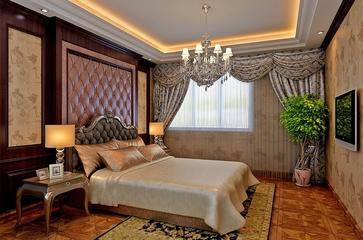 简欧奢华四居室欣赏卧室背景墙