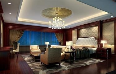 150平欧式大宅设计欣赏卧室吊顶